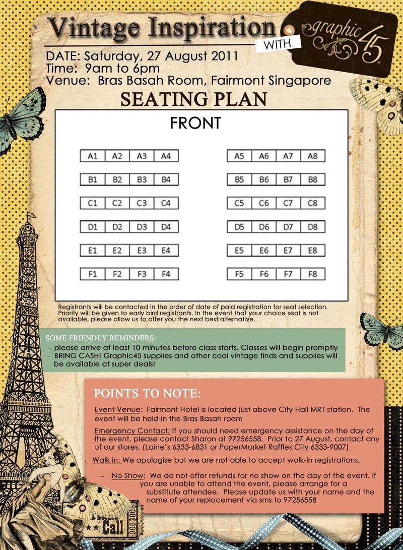 G45 Event r u ready seat plan